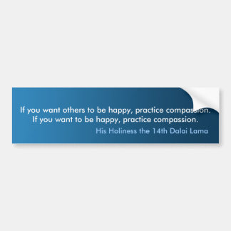 Bumper Sticker Practice Compassion Bumper