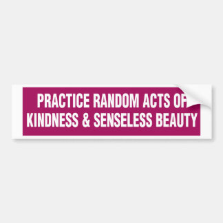 Bumper Sticker - Practice Random Acts of Kindness.