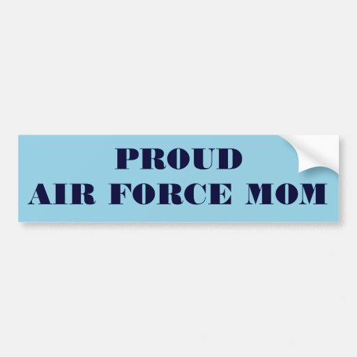 Bumper Sticker Proud Air Force Mom