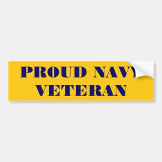 Bumper Sticker Proud Navy Veteran