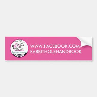 Bumper Sticker RABBITHOLE HANDBOOK