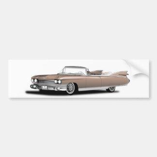 bumper sticker, retro, car,cadillac bumper sticker
