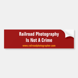 Bumper Sticker - RR Photography Is Not A Crime