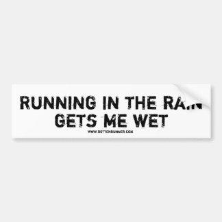 bumper sticker, Running in the rain Bumper Sticker