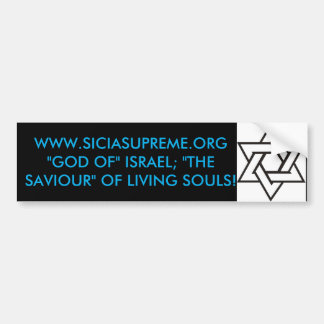 BUMPER STICKER - STAR OF DAVID