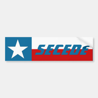 Bumper Sticker Texas Lone Star State Flag Secede
