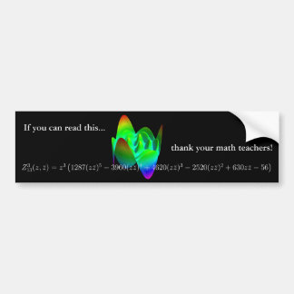 Bumper sticker: thank your math teacher! 3 bumper sticker