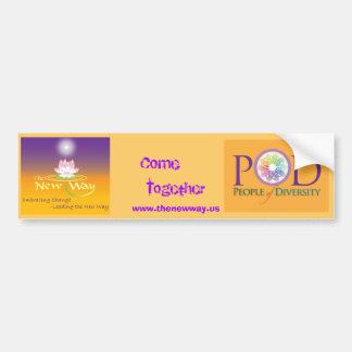 Bumper sticker- The New Way POD Bumper Sticker