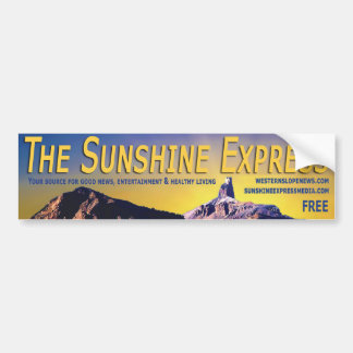 Bumper Sticker - The Sunshine Express Banner #3