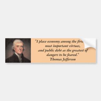 Bumper Sticker : Thomas Jefferson on Debt