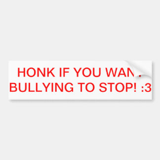 Bumper Sticker to Stop Bullying