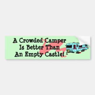 Bumper Sticker Vintage Camper RV Travel Trailer