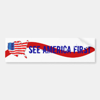 Bumper Sticker Vntg Campaign to See America First