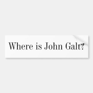 Bumper Sticker - Where is John Galt?