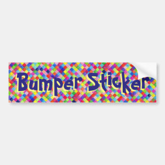 Bumper Sticker with Colored In Graph Paper Squares