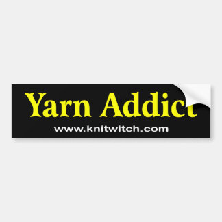 Bumper Sticker - Yarn Addict