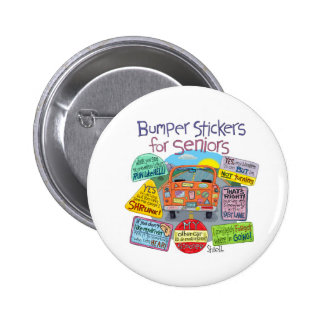 Bumper Stickers For Seniors Cartoon 2 Inch Round Button