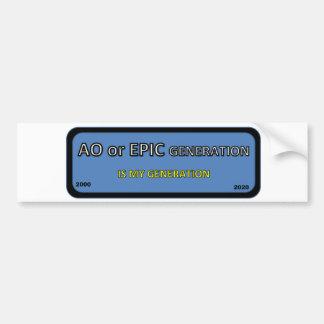 Bumper/window sticker AO generation Bumper Sticker