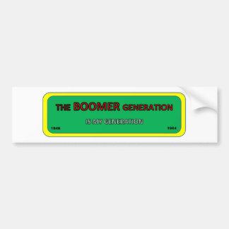 Bumper/window sticker BOOMER generation