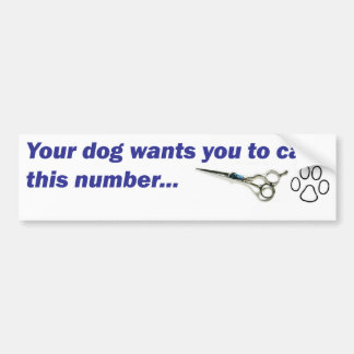 Bumper - Your Dog Wants You to Call... Bumper Sticker