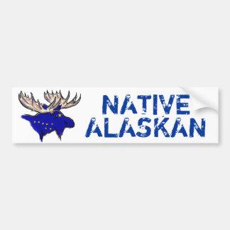 Bumpersticker artistique d'Alaska indigène de drap Autocollants Pour Voiture
