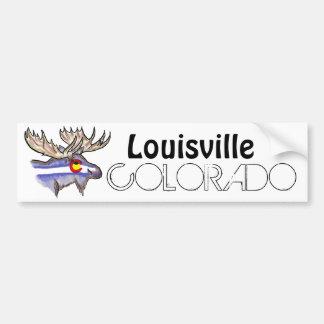 Bumpersticker artistique d'élans de Louisville le  Autocollant De Voiture