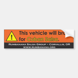 bumpersticker-caution bumper sticker