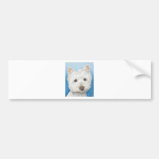 Bumpersticker de chien de Westie Autocollant Pour Voiture