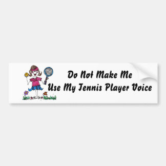 BumperSticker -Stick Tennis Girl Bumper Sticker