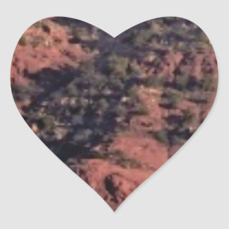 bumps and lumps in red rock heart sticker