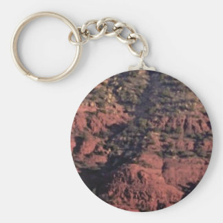 bumps and lumps in red rock keychain