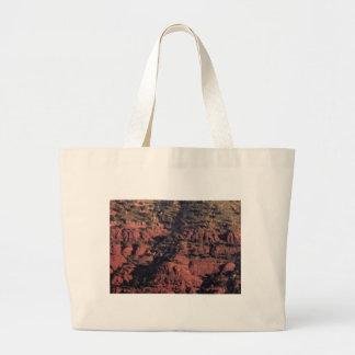 bumps and lumps in red rock large tote bag