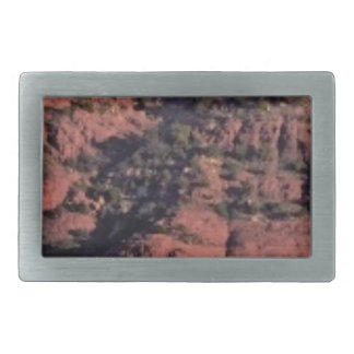 bumps and lumps in red rock rectangular belt buckle