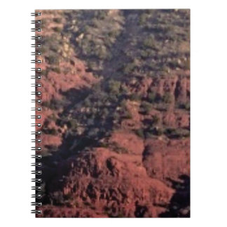 bumps and lumps in red rock spiral notebook