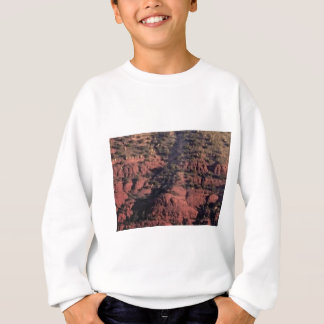 bumps and lumps in red rock sweatshirt