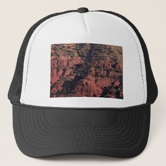 bumps and lumps in red rock trucker hat