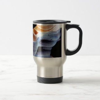 Bumps and lumps in the rocks travel mug