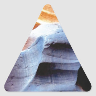 Bumps and lumps in the rocks triangle sticker