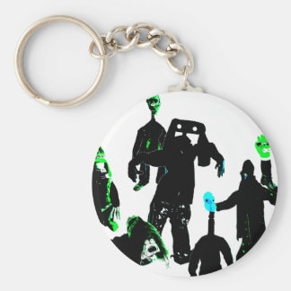 Bumps in the night basic round button keychain