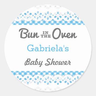 Bun In The Oven Baby Shower Favor Sticker