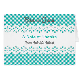 Bun In The Oven Baby Shower Thank You Card