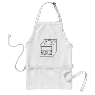 bun in the oven, funny baby in mother pregnant mom standard apron