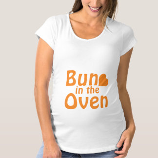 Bun In The Oven-Orange Maternity T-Shirt