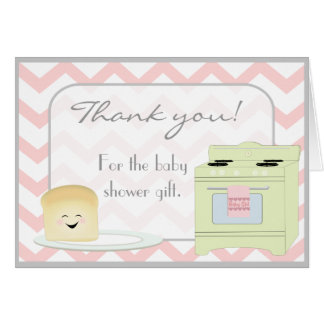 Bun in the Oven Pink Thank You Card