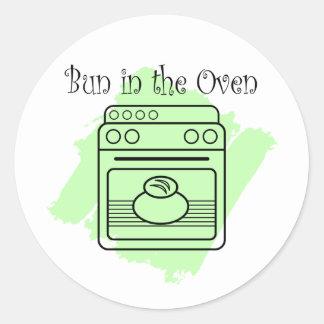 Bun in the Oven Round Sticker