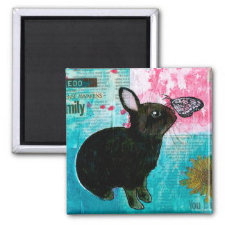 BUN N BUTTERFLY SQUARE MAGNET
