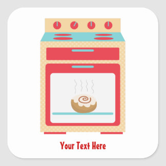 Bun Oven (customizable maternity) Square Sticker