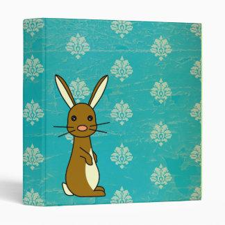 Bunbun - Cute Rabbit Blue Damask Binder