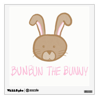 Bunbun the Bunny -Baby / Kids Room Fun Wall Decal