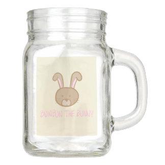 Bunbun the Bunny - Mason Jar Mug with Handle